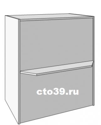"""прилавок """"кассовый бокс"""" с полкой для покупателя пк-1869030"""