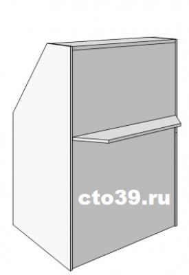 прилавок ресепшен с полкой для покупателя пк-1869010