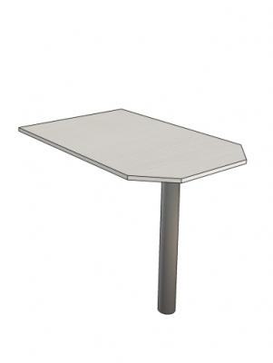 приставной стол на опорной металлической ноге сл-112005