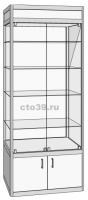 Витрина стеклянная в алюминиевом профиле ВА-290042