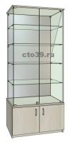 Витрина стеклянная ВТ-48904, задняя стенка зеркало