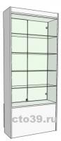 Витрина стеклянная сквозная, задняя стенка стекло, полки стекло ВС-718904