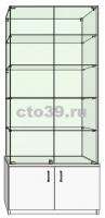 Витрина стеклянная с прозрачной верхней крышкой ВТ-28905