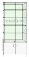 Витрина стеклянная с запасником ВТ-28904