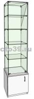 Витрина стеклянная с верхней прозрачной крышкой ВС-34505