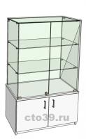 Витрина стеклянная островная ВТ-58903