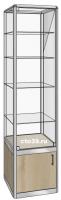 Витрина стеклянная одинарная в алюминиевом профиле ВА-14504