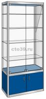 Витрина стеклянная в алюминиевом профиле ВА-290041