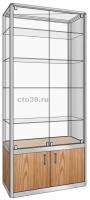 Витрина стеклянная в алюминиевом профиле ВА-29004
