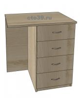 Стол офисный приставной с тумбой СЛ-112004