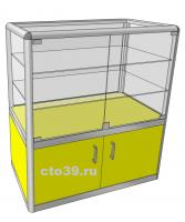 Прилавок стеклянный в алюминиевом профиле ПА-290021