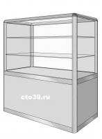 Прилавок стеклянный в алюминиевом профиле ПА-29002