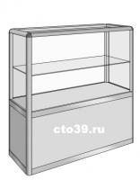 Прилавок стеклянный в алюминиевом профиле ПА-29001
