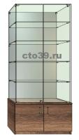 Витрина стеклянная ВТ-48905, задняя стенка зеркало