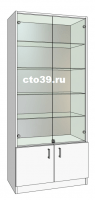 Витрина стеклянная, задняя стенка зеркало ВС-528904
