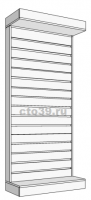 Стойка с экономпанелью пристенная с верхней фризой  СП-1312001